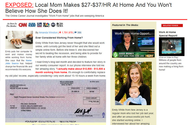 work at home education scam
