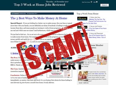 Work from home scams – the one to watch for