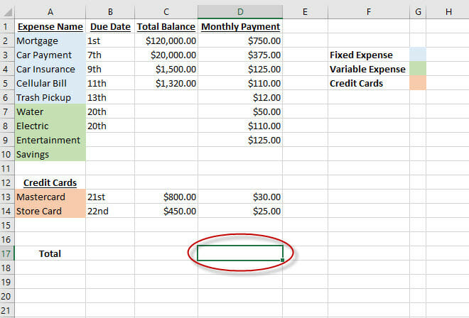 how to set up a budget